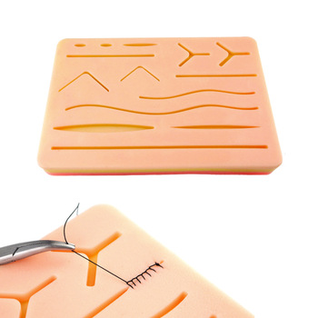 Medical Silicone Skins Pad Skin Suture Wound Module Surgical Instruments Needle Holder Suture Practice Simulated Skins