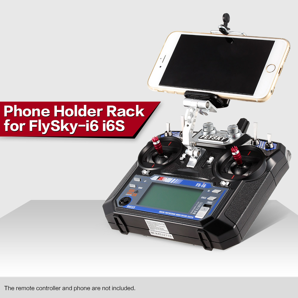 Phone Holder Clip Bracket Mount Support for FlySky FS-i6 i6S Remote Controller 2.4G RC Transmitter Drone RC Multicopter Parts image