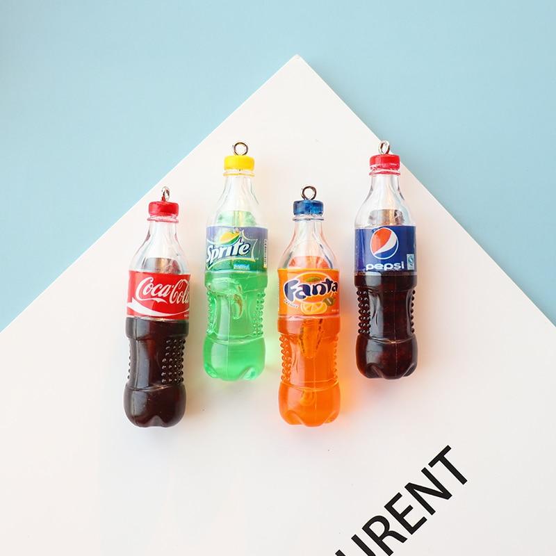 Dijes para relleno de limo plastilina DIY Cola Pepsi Fanta botella de resina encanto pegamento transparente Lime accesorios cuentas Lizun suministros