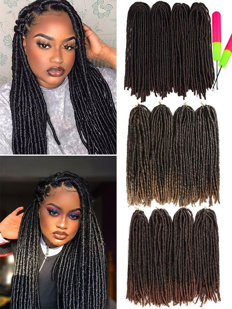 X-TRESS Braids Hair Hair-Extensions Crochet Dreadlocks Soft Faux-Locs Color Straight