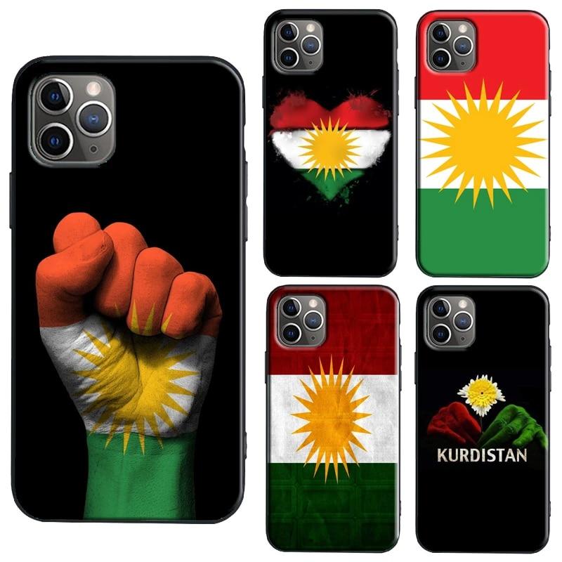 Kurdistan Flag TPU Case For iPhone XR X XS Max 11 12 Pro Max mini 6S 7 8 Plus SE 2020 Cover Coque