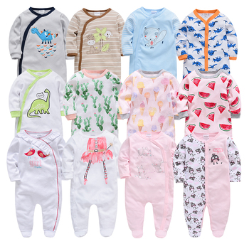 Baby Girl Romper Newborn Sleepsuit Cartoon Baby Rompers 2019 Infant Baby Clothes Long Sleeve Newborn Jumpsuits Baby Boy Pajamas 2018 newborn baby boys girl rompers spring children clothes long sleeve autumn baseball uniform jumpsuits cotton pajamas