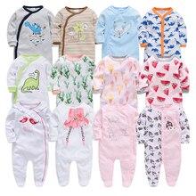 เด็กทารก Romper ทารกแรกเกิดชุดนอนการ์ตูนเด็กทารก 2019 ทารกเสื้อผ้าเด็กแขนยาวทารกแรกเกิด Jumpsuits ชุดนอนเด็กชาย