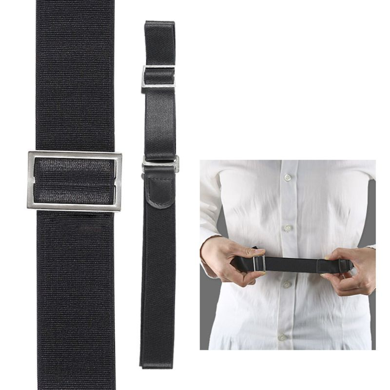 2020 Men Shirt Stay Holder Black Lock Belt Adjsutable Elastc Non-Slip Wrinkle Bandage