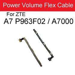 Em fora do cabo flexível do botão lateral do volume de energia para a lâmina de zte a7 p963f02/a7000 power & volume lado keypads interruptor peças de reposição