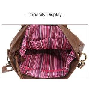 Image 5 - Sac fourre tout Vintage pour femmes, sac pour ordinateur portable de bureau, sacoche à bandoulière de marque, décontracté