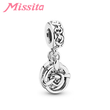MISSITA Romantic Forever Heart Charms fit Pandora Bracelets Necklaces for Jewelry Making Women Pendant Accessories