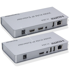 HDMI KVM 익스텐더 200M 오버 IP RJ45 이더넷 Cat5e Cat6 케이블 네트워크 KVM 익스텐더 HDMI 오버 UTP/STP 지원 USB 마우스 키보드