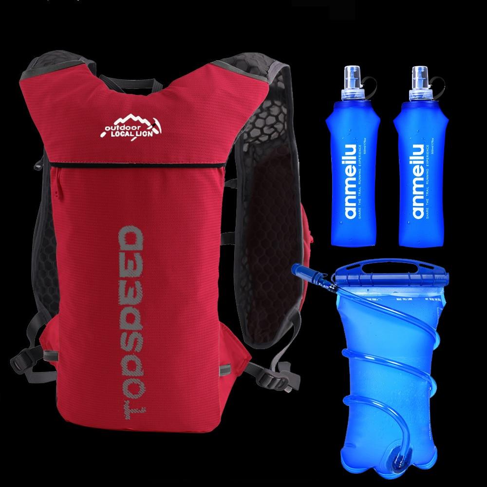 Кроссовки для бега рюкзак 5L ультра Бег Жилет гидратации пакет марафона велосипеда рюкзак сумка 500 мл мягкая термос бутылка воды мешок