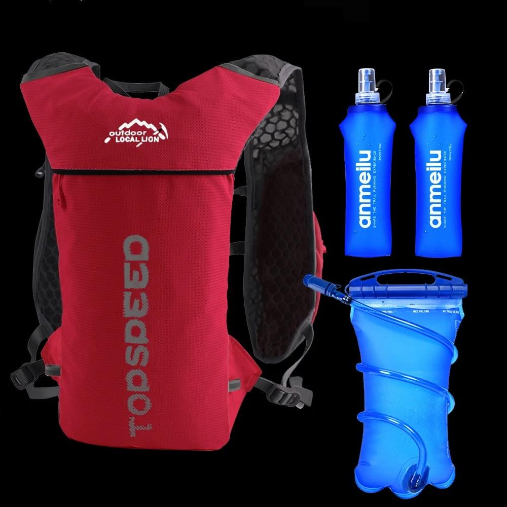Details about  /5L Running Backpack Trail Hydration Vest Pack Marathon Bike Rucksack Bag Flask