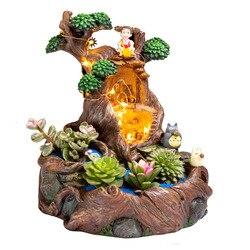 Mikro element dekoracji krajobrazu doniczka doniczka na sukulenty biuro kikut doniczka z lampą ogród dekoracje na prezenty hurtownie Dropshipping