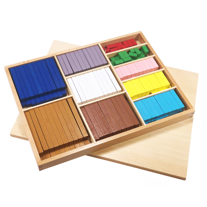 Montessori Math Wooden Toy 20 Kinds 1-10cm Colorful Blocks Digitals Stick Wood Box Teaching Aids Toys For Children Educational