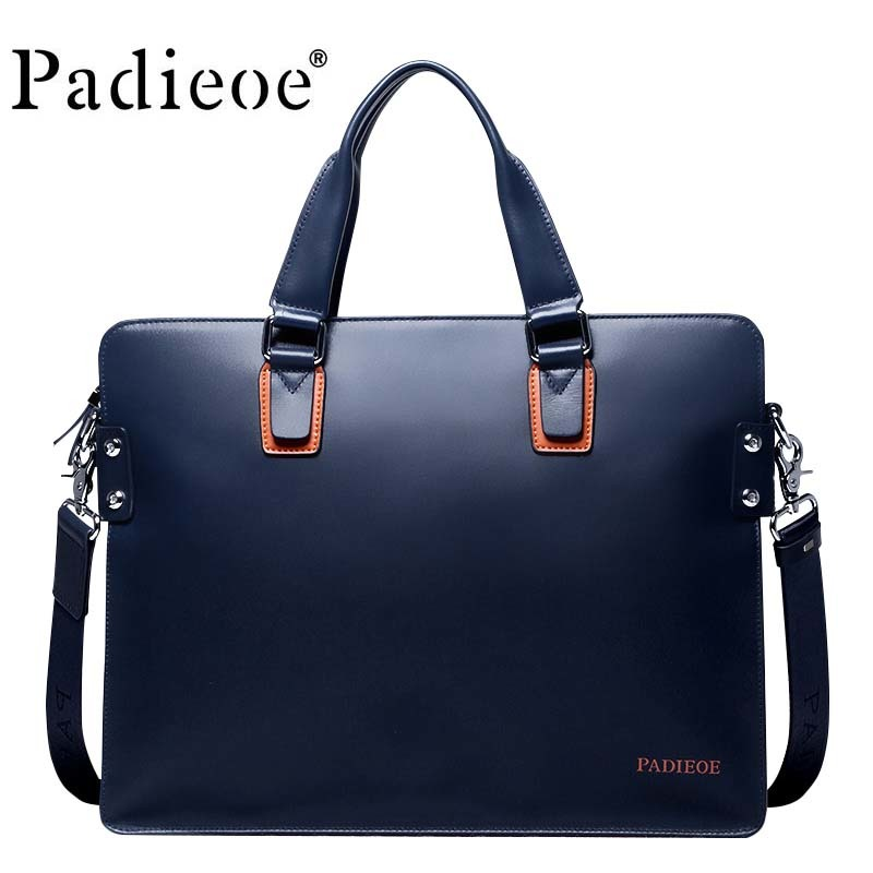 2019 New Fashion Leather Bag Apple Computer Package Business Men Messenger Brand Briefcase New Designer Male Notebook Hot Sale