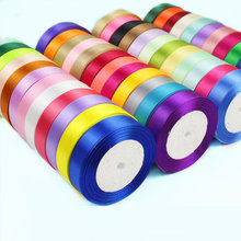 25Yards/Roll 6mm 10mm 15mm 20mm 25mm 40mm 50mm Silk Satin Ribbons for Crafts Bow Handmade Gift Wrap Party Wedding Decorative(China)