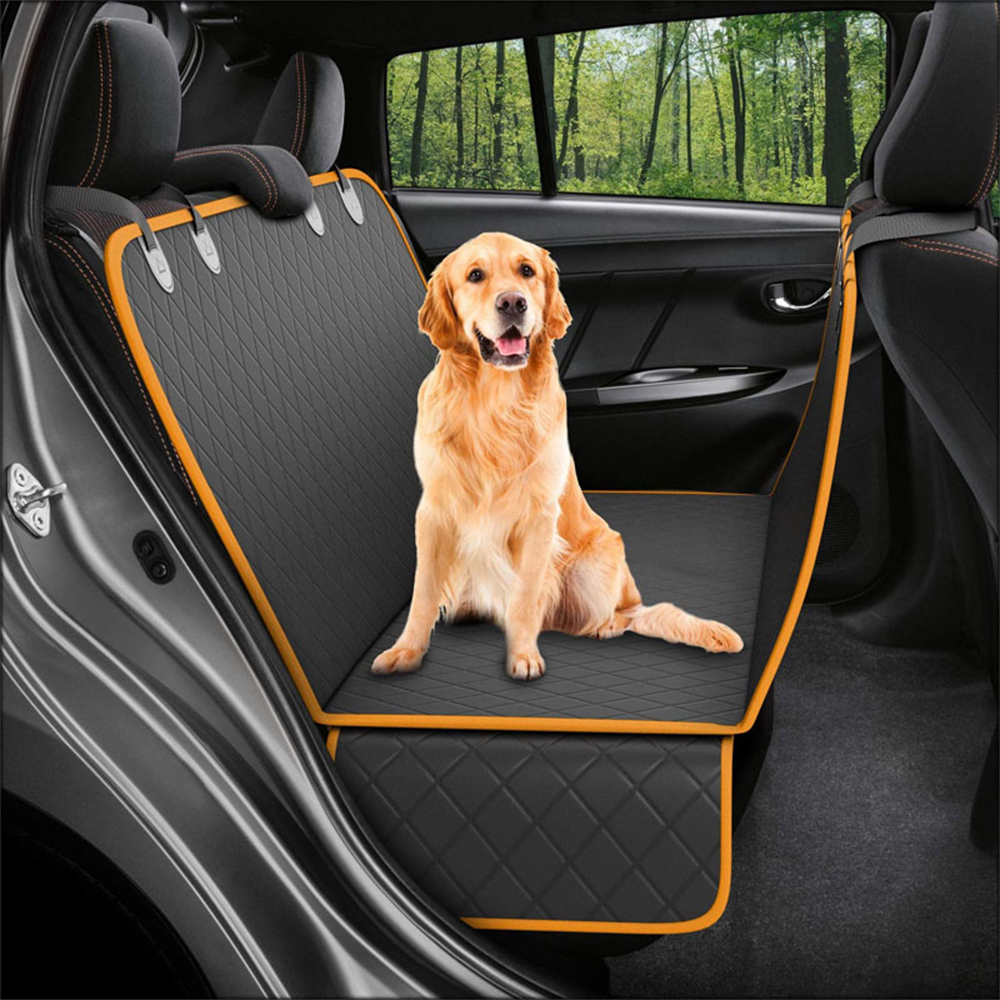 Lanke Dog Back Seat Cover Protector Waterproof Scratchproof Nonslip Hammock for Dogs, Against Dirt and Pet Fur Car Seat Covers 14