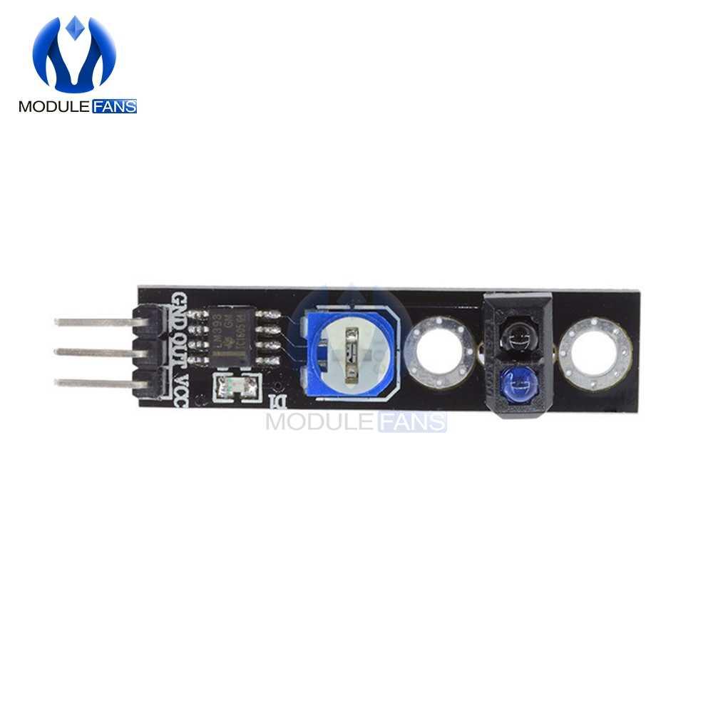 DC 3.3V capteur de réflexion infrarouge ligne piste commutateur numérique sortie LM393 Module de comparaison avec potentiomètre réglable