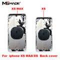 Volle Gehäuse Fall Für iphone XS XS MAX Batterie Zurück Abdeckung Tür Hintere Abdeckung + Chassis nahen Rahmen Keine Flex kabel