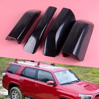 Black ABS Roof Rack Bar Rail End Protection Cover Shell 4PCS for Toyota 4Runner N280 2010 2018 Roof Racks & Boxes    -