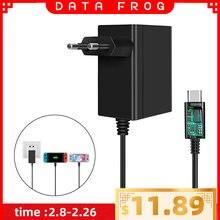 Адаптер переменного тока с вилкой data frog для ЕС/США зарядное