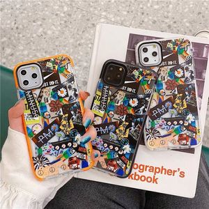 Ins coréen mode couple fleur étiquette housse de protection pour iPhone 11 pro 8 7 6 S Plus X XS MAX XR silicone souple housse de protection