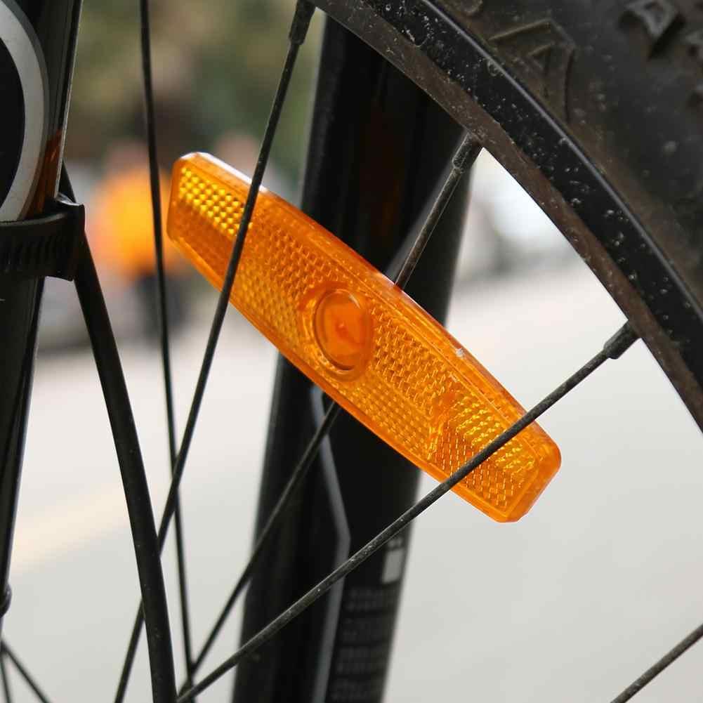 1pcs Della Bici Raggi Per Biciclette Riflettore di Sicurezza di Avvertimento di Sicurezza Luce Wheel Rim Riflettente di Luce Montaggio Dell'annata Clip di Tubo Riflettore