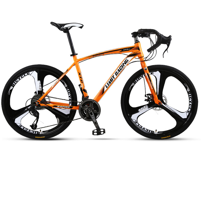 Road Bike 21 Speed 26 Inch Bent Men And Women Students Fixed Gear Bicycle Three Knife Wheel Adult New
