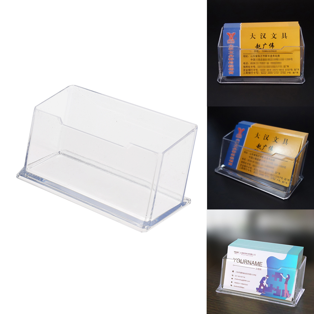 Acrylic Desk Shelf Storage Display Stand Clear Plastic Business Card Holder Stand Display Dispenser