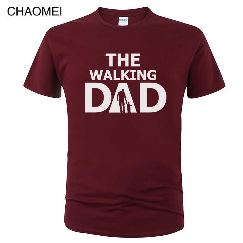 2019 The Walking Dad T Shirt Men Summer Casual Cotton Father's Day T-Shirt  Short Sleeve Male Funny Dad Gift T-shirt Top Tee C77