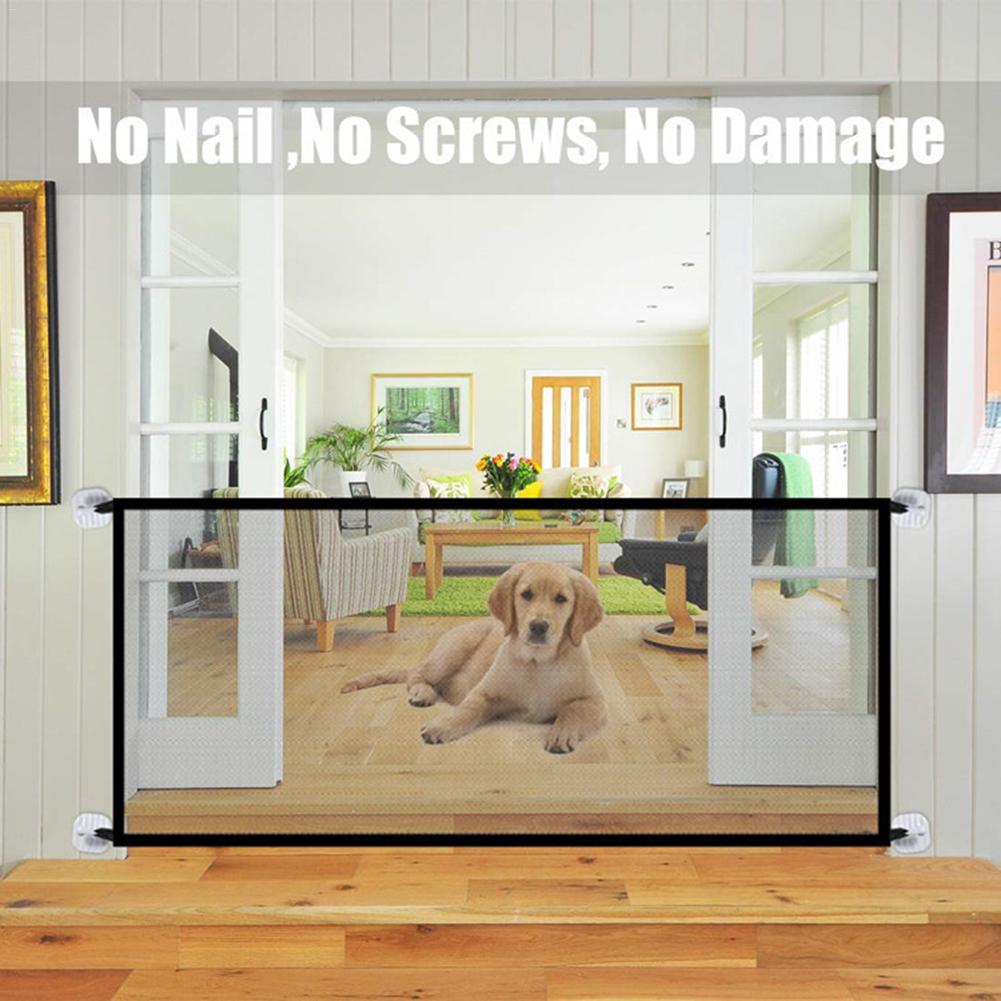 Новые барьерные заборы для домашних животных, портативные складные дышащие сетчатые ворота для собак, разделительная защита для домашних ж...