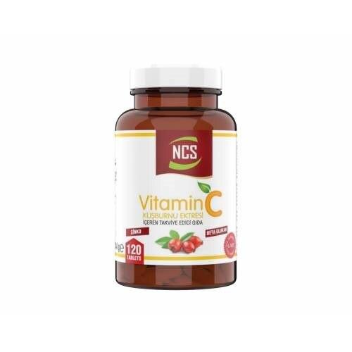 Ncs Vitamin C 1000 Mg Beta Glucan Rosehip Zinc 120 Tablet