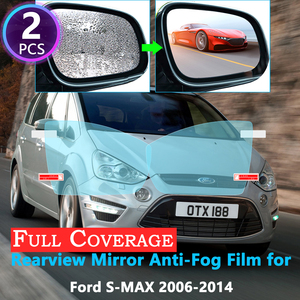 Full Cover Protective Anti Fog Film for Ford S-Max MK1 Smax S max 2006~2014 Car Rearview Mirror Rainproof Films Accessories 2013(China)