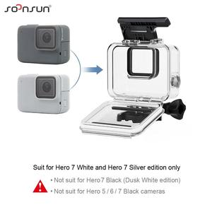 Image 4 - SOONSUN 40m Waterproof Underwater Protective Housing Case with 3 Pack Diving Lens Filter for GoPro Hero 7 Silver/White Go Pro 7
