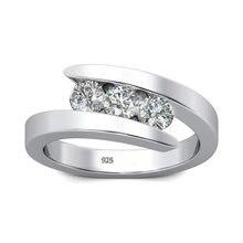 Szjinao 100% prawdziwe Moissanite pierścień 925 srebrny diament pierścionki dla kobiet z D kolor VVS1 zaręczyny biżuteria ślubna grzywny
