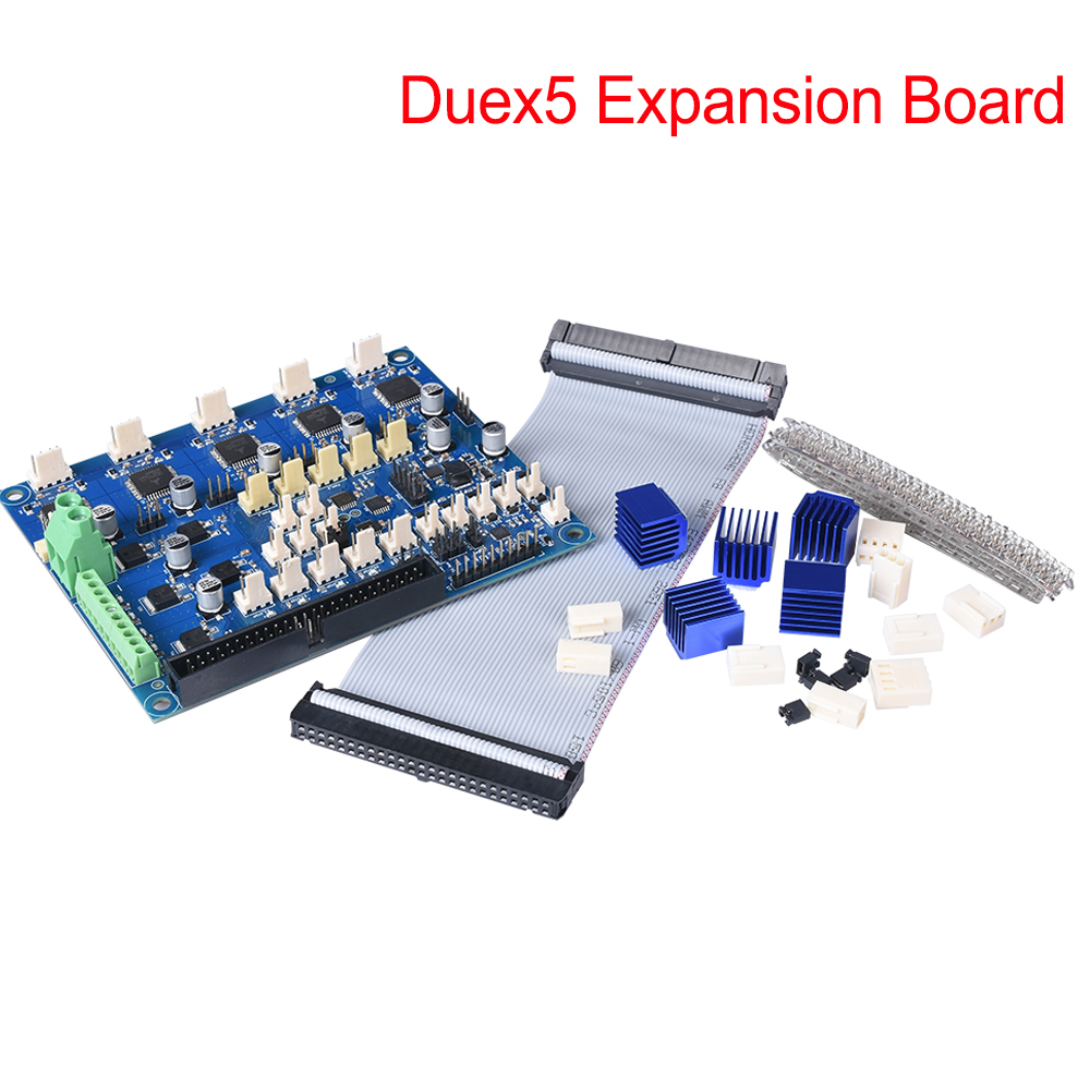 Cloned Duex5 Expansion Board Controller With TMC2660 Stepper Motor Driver Fit Thermocouple PT100 VS Duet 2 Wifi 3D Printer Parts