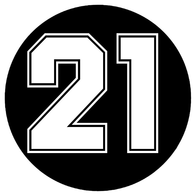CS-10054# наклейки на авто Цифра 21 водонепроницаемые наклейки на машину наклейка для авто автонаклейка стикер этикеты винила наклейки стайлинг...