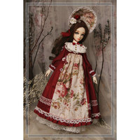 Retro Rose Forest Skirt Doll Cloth Accessories for 1/4,1/3 BJD Dolls No Doll