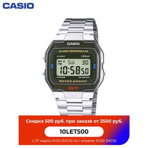 Наручные часы Casio A-163WA-1 мужские электронные на браслете