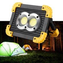 LED Flood Light USB Rechargeable COB Portable Lantern 18650 Battery Powered Led Spotlight Outdoor Camping Tent Light Power Bank