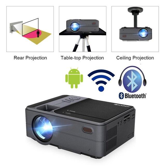 Caiwei C180 Mini projecteur intelligent hd TV Mobile Android petit projecteur dans les projecteurs de cinéma maison projecteurs vidéo dextérieur