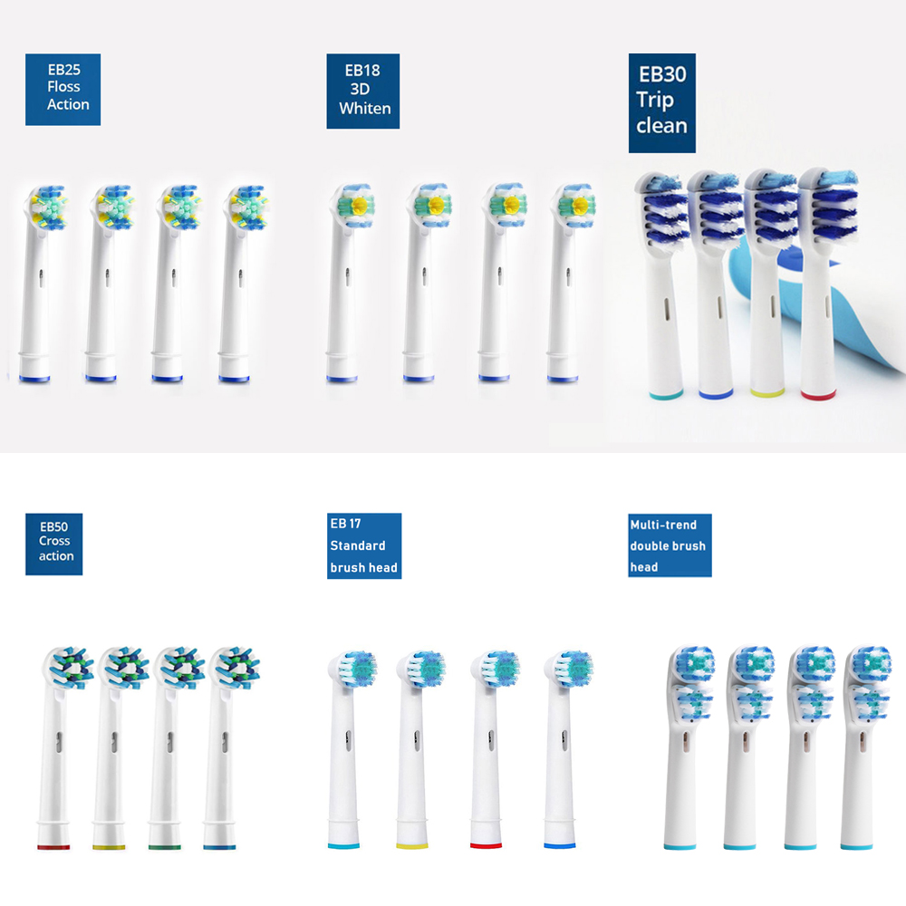 Oral B Replacement Toothbrush Heads For Oral-b Electric Toothbrush Brush Compatible ORAL-B Vitality D12.513 3D White And More 5