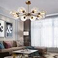 Скандинавское прозрачное стекло люстра освещение современный домашний внутренний декор столовая Подвесная лампа для ресторана креативно...