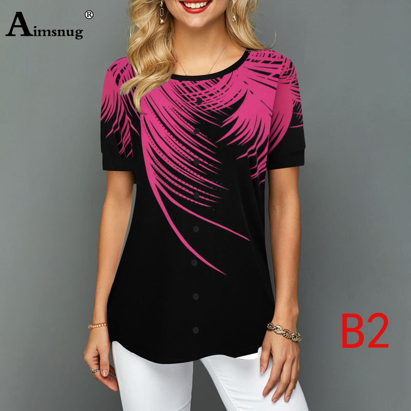 H32f0b8f6343145d6b984a7fe35f996beK - Plus size 4xl 5xl Women Fashion Print Tops Round Neck Short Sleeve Boho Tee shirts New Summer Female Casual Loose T-shirt