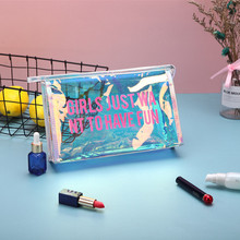 DAODAO Laser Symphony Cosmetic Bag Makeup Organizer Box Large Capacity Girls Cute Waterproof Toiletry Holding Storage