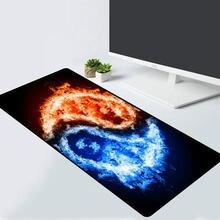 Игровой коврик для мыши xgz с двумя группами пламени компьютерный