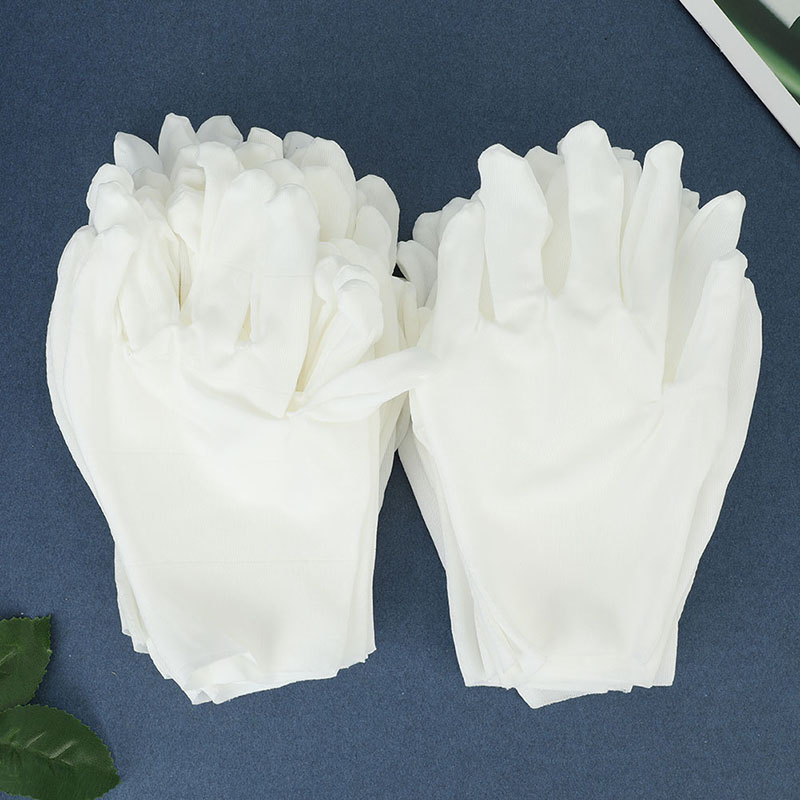 12pairs/Pack White Sweat-absorbent Non-slip Comfortable Labor Insurance Thick Cotton Work Cotton Cloth Thin Gloves