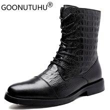 2020 الرجال الشتاء حذاء من الجلد عادية genune أحذية من الجلد الذكور الخريف الجيش حذاء الثلوج الأحذية العسكرية الذكور للرجال حجم كبير 36 47