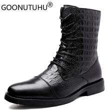 2020 hommes hiver bottines décontracté genune cuir chaussures mâle automne armée neige botte mâle militaire bottes pour hommes grande taille 36 47