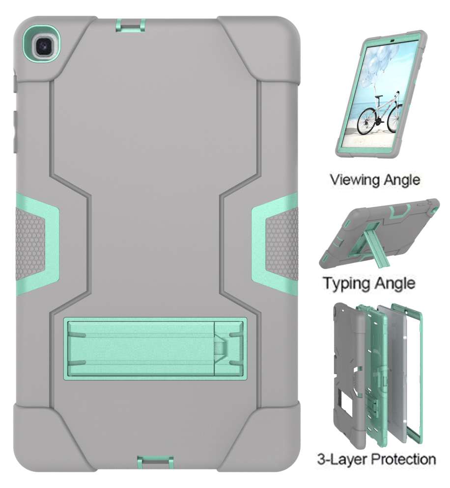 Heavy Armor Shochproof <font><b>Case</b></font> For Samsung Tab A10.1 <font><b>T510</b></font> T515 2019 <font><b>Case</b></font> Rugged Duty Silicone Tablet Stand Protective <font><b>Case</b></font> image