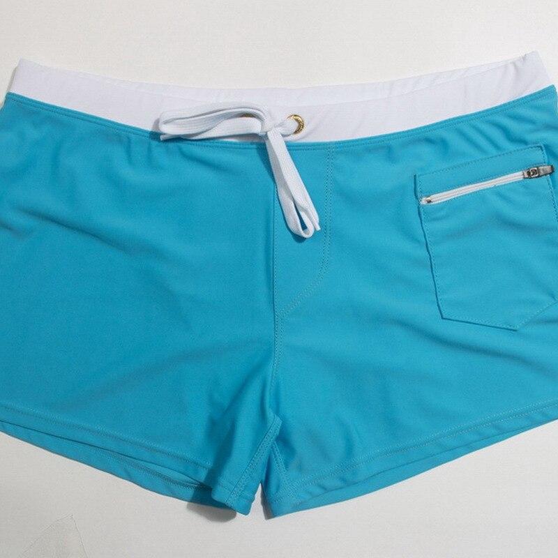 New Style Front Pocket Swimming Pants Fashion Zipper Bathing Suit MEN'S Swimming Trunks Men Diving Pants Beach Tour Pants
