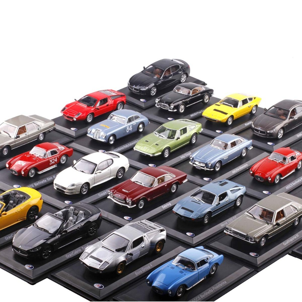 <font><b>1:43</b></font> Scale Italy Maseratis Alloy <font><b>Diecast</b></font> Car Model Vehicle Toys Antique <font><b>Vintage</b></font> Sport Muscle For Kids Toys Gifts image